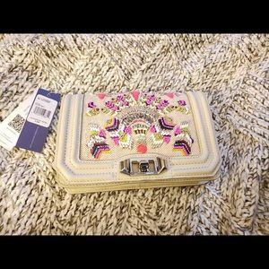 Rebecca Minkoff beaded small purse white beige